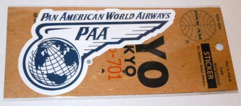 PANAM ステッカー WORLD AIRWAYS