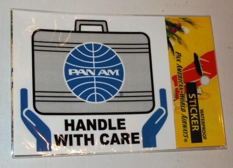 PANAM HANDLE WITH CARE ステッカー