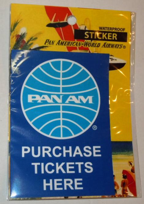 PANAM PURCHASE TICKETS HERE ステッカー
